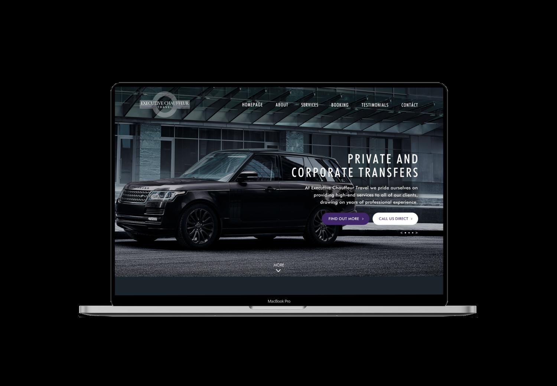 Executive Chauffeur Travel Website Design
