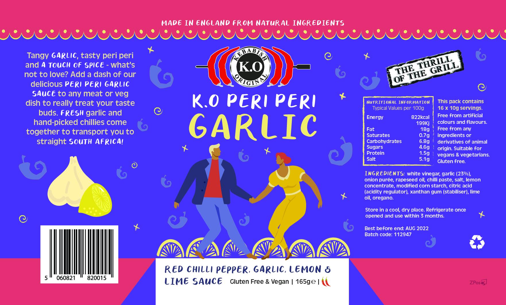 Peri Peri Garlic Bottle Labels