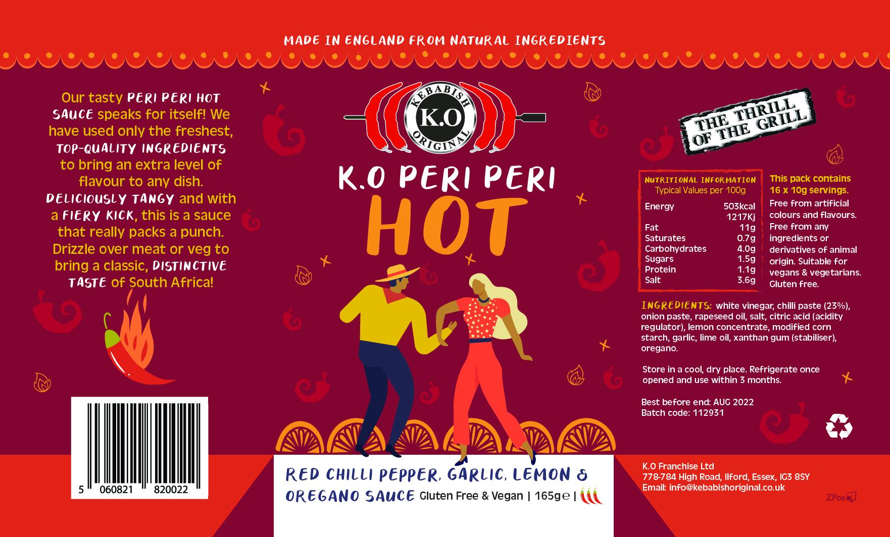 Peri Peri Hot Bottle Labels