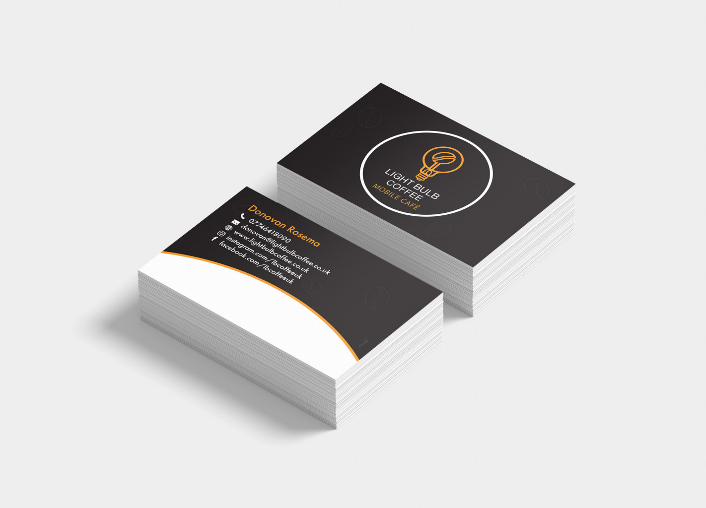 Mobile Coffee Shop Business Cards