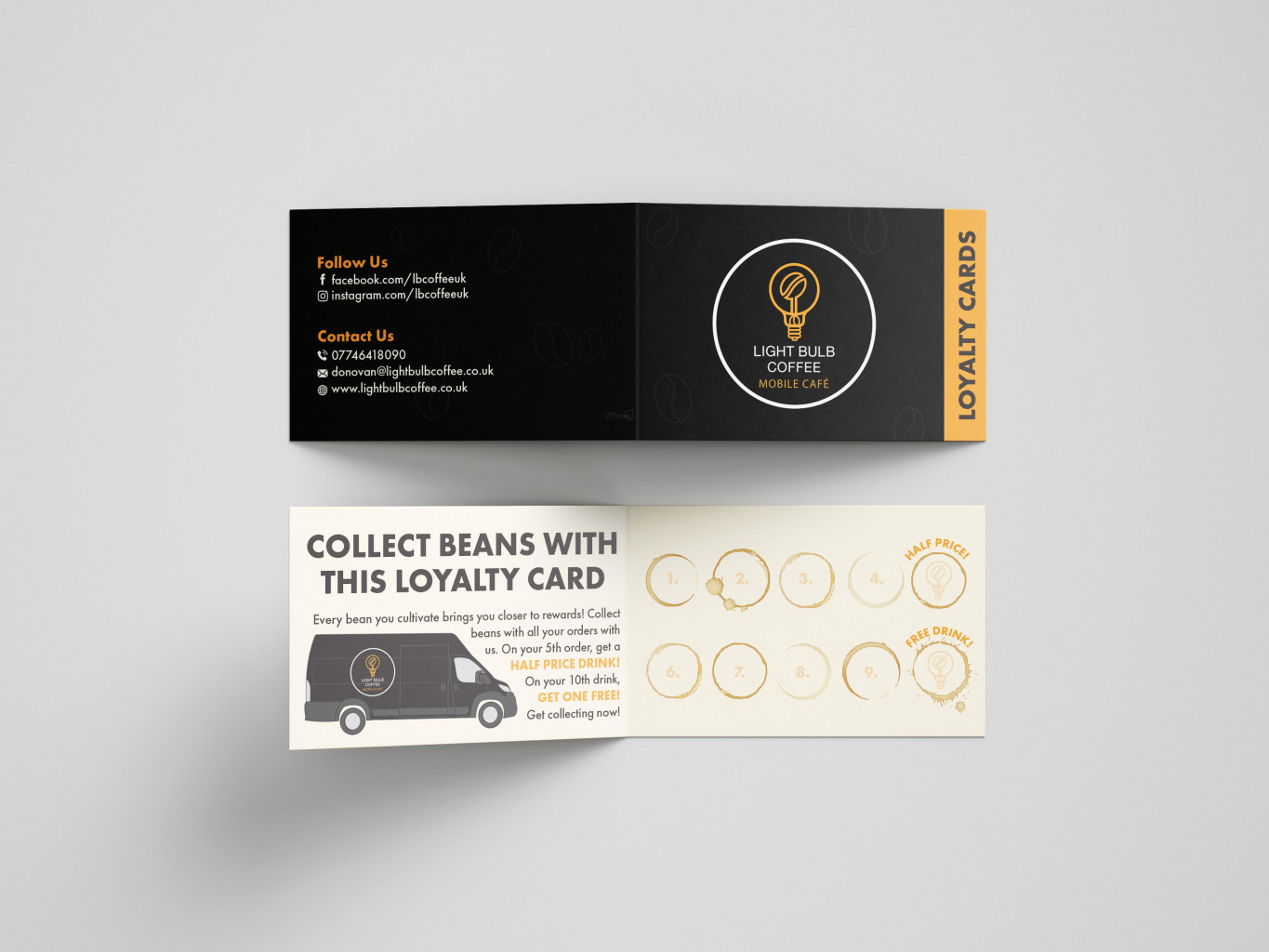 Mobile Coffee Shop Loyalty Cards