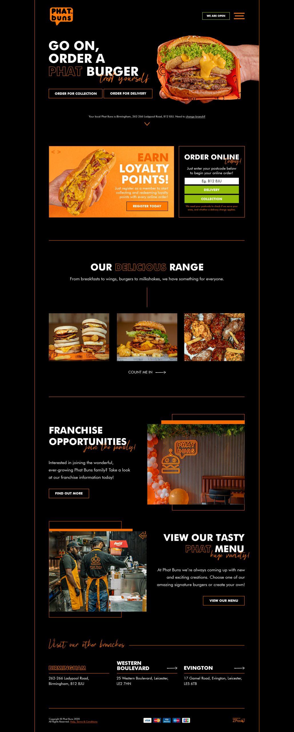 Phat Buns Website Design