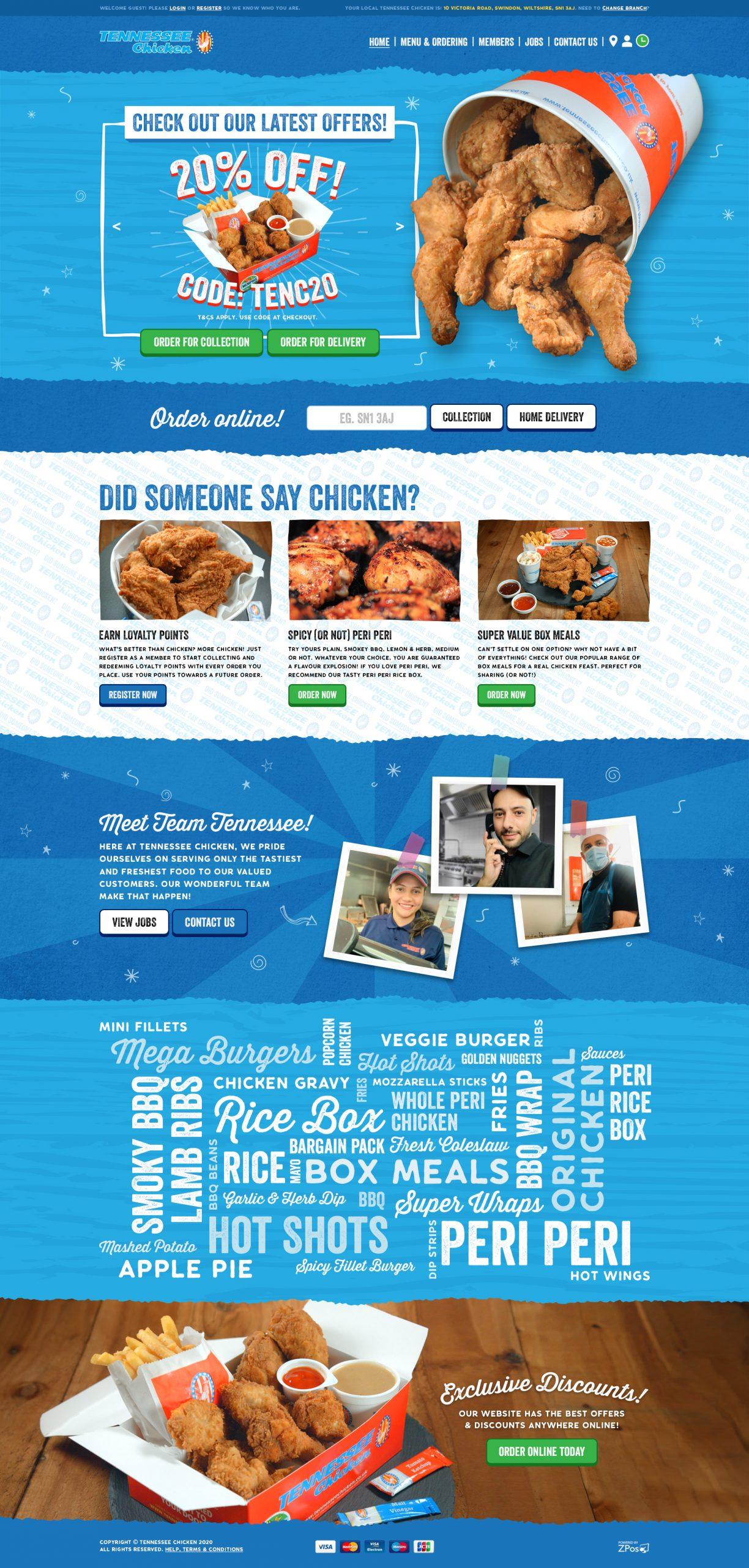 Tennessee Chicken Website Design
