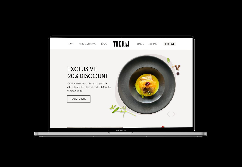 The Raj Website Design